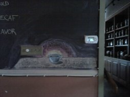 Chalkboard drawing, House of Coffee