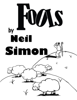 Digital Illustration, program cover for Fools at The Village Players of Hatboro