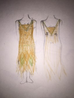 1920s costume sketch