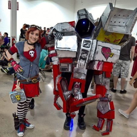 This was taken at the Too Many Games convention. Deathtrap got a little compressed on the car ride there, but I was able to fix it up later for pictures.