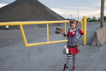 Gaige by the fence.