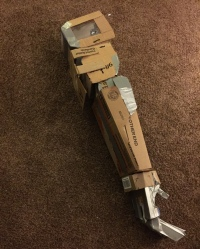 Deathtrap's arm, prior to painting.