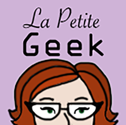 A profile image for my Etsy store, La Petite Geek.
